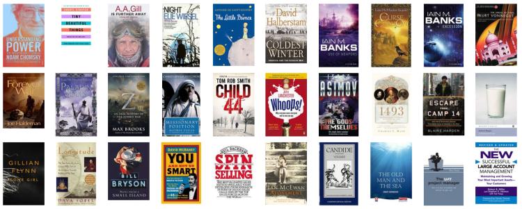 Books Read 2013 Collage